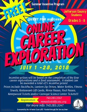 Online Summer Career Exploration Incentive  Program